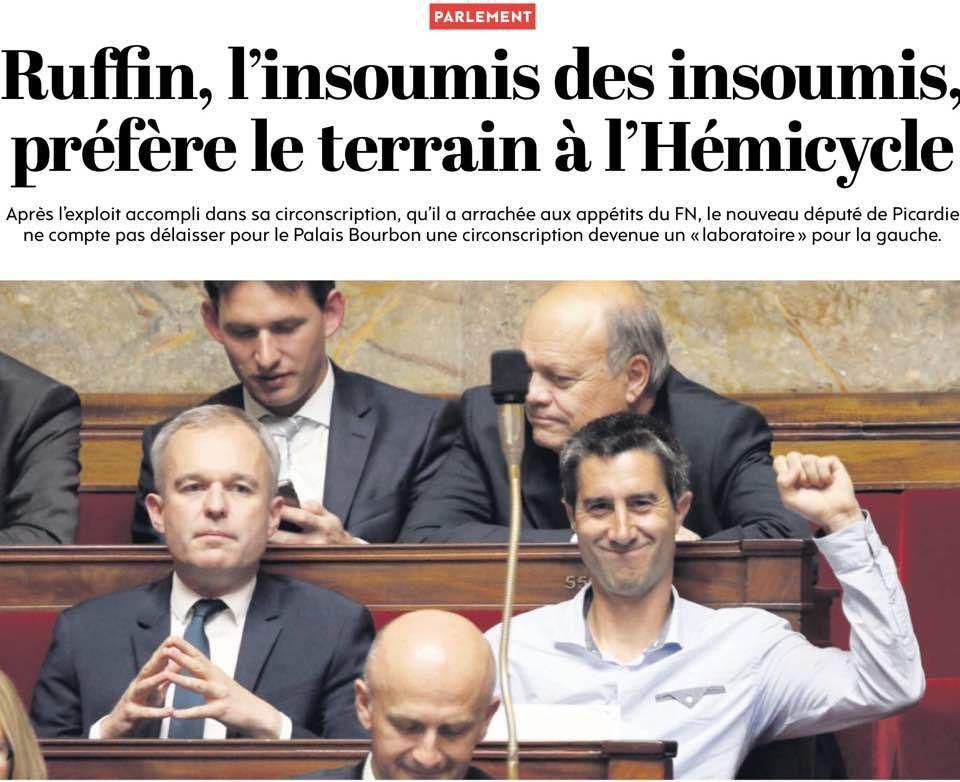 FRANCOIS RUFIN NOUVEAU DEPUTE FRANCAIS DE LA GAUCHE AUTHENTIQUE