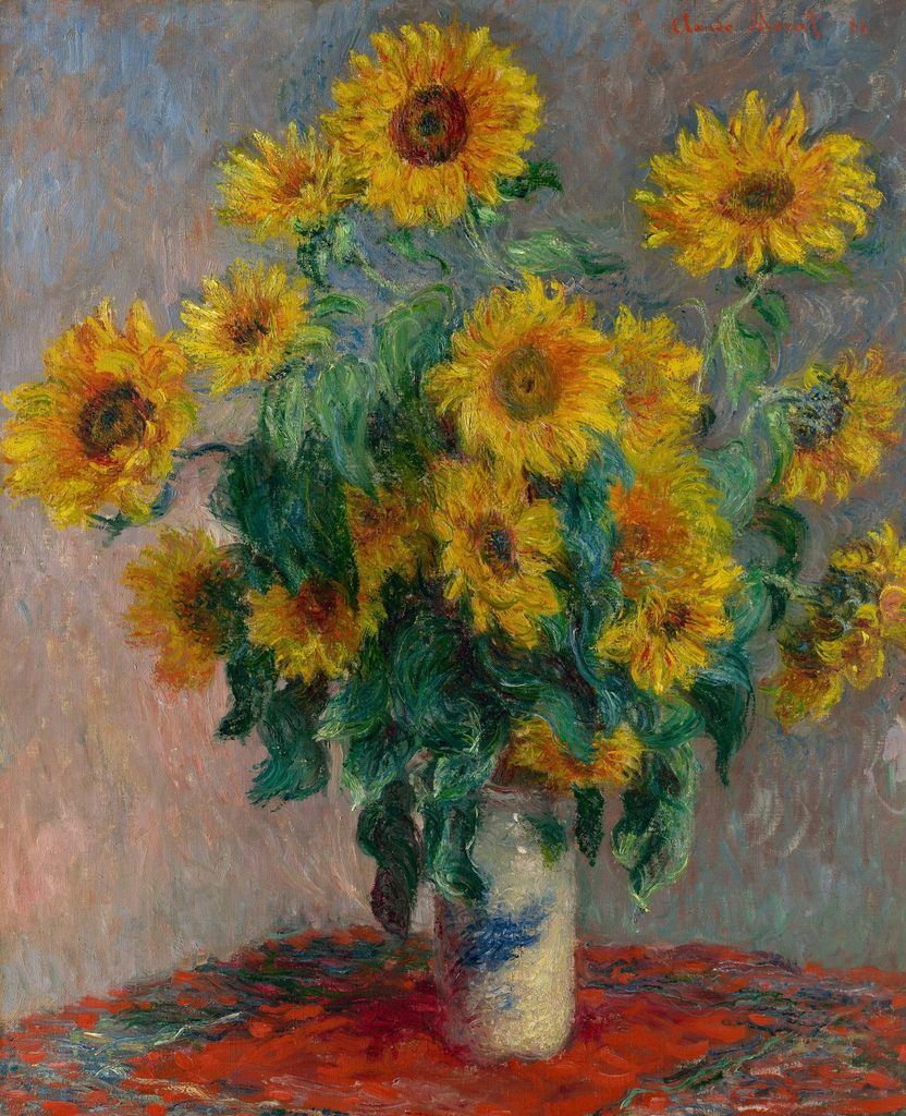 LES TOURNESOLS DE CLAUDE MONET