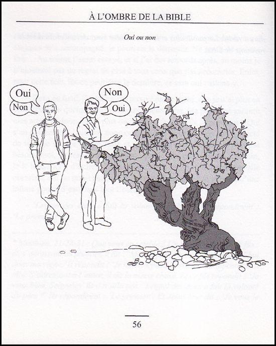 A l'ombre de la Bible, fac-similé de la page 56