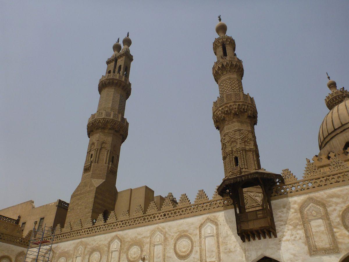 La célèbre mosquée d'Al Azhar, influente dans tout le monde musulman.