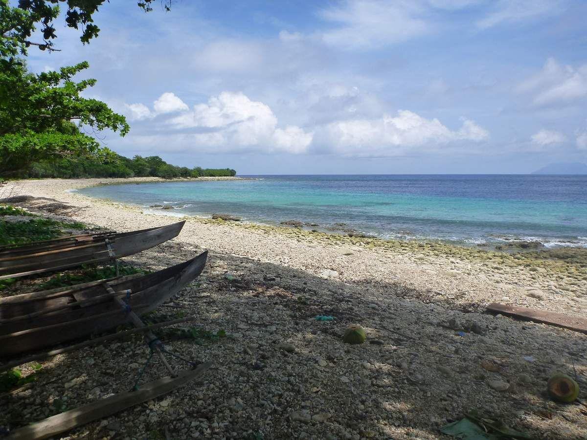 Plage près de Manumui (côte nord de Babar)