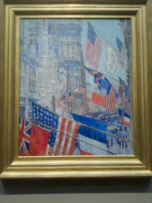 """""""Allies Day May 1917"""", toile de Childe Hassam (1859-1935), National Gallery"""