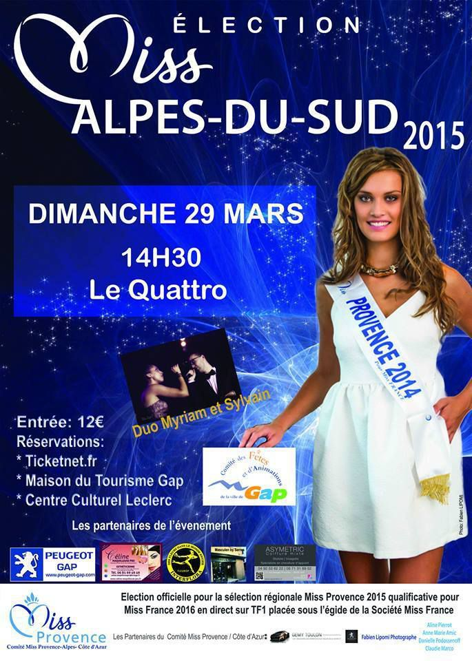 Election Miss Alpes du Sud 2015
