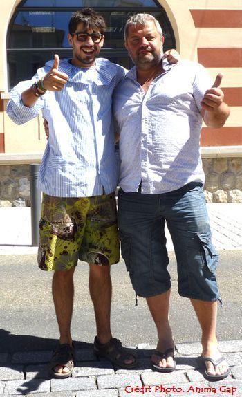 Avec son ami Cyrille, bien connu des gapençais