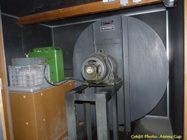 La soufflerie de l'orgue, endommagée par la foudre début juillet