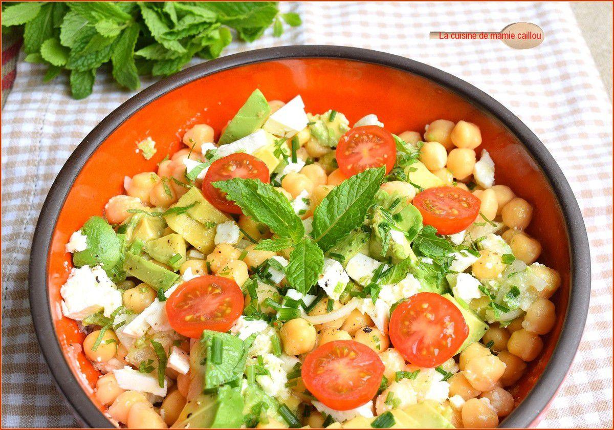 Feta, Avocat et Pois chiches pour une salade de compétition !