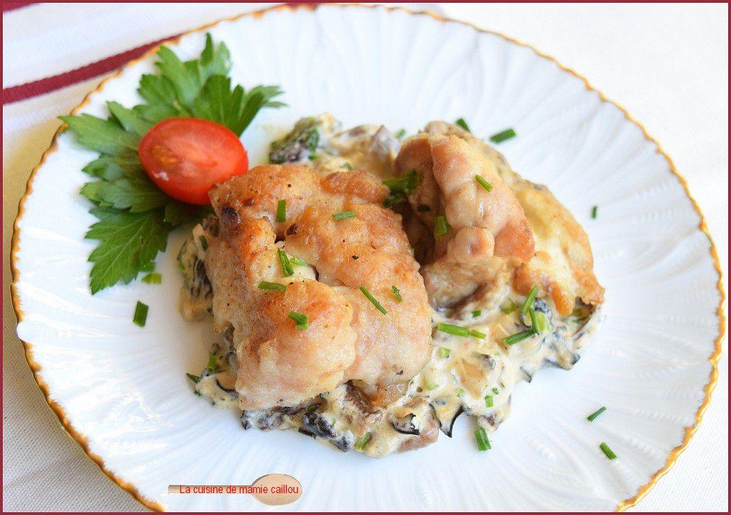 Ris de veau croustillant et champignons des bois à la crème