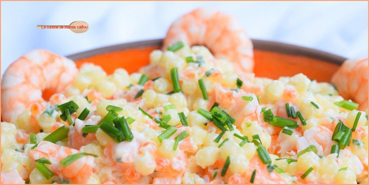 Perles en salade de la mer