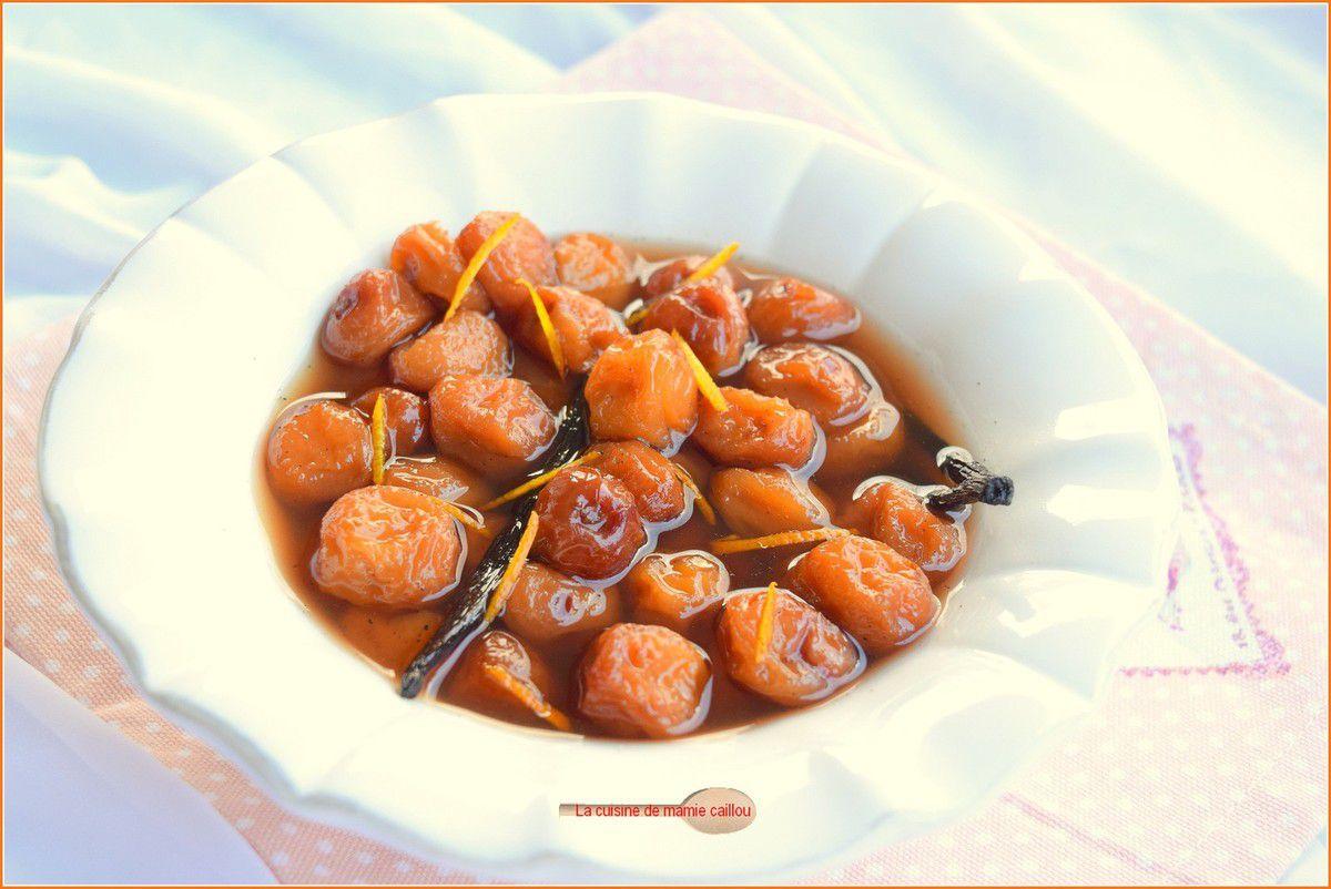 Soupe de mirabelles aux zestes d'orange et à la vanille