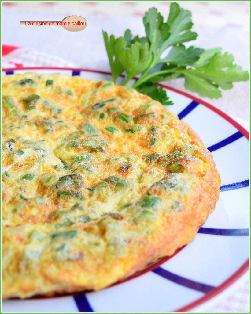 L'omelette aux asperges...tradition Pascale oblige !