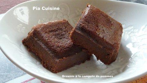 Brownie à la compote de pommes