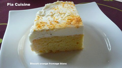 Biscuit orange et fromage blanc