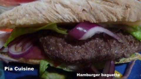 Hamburger baguette