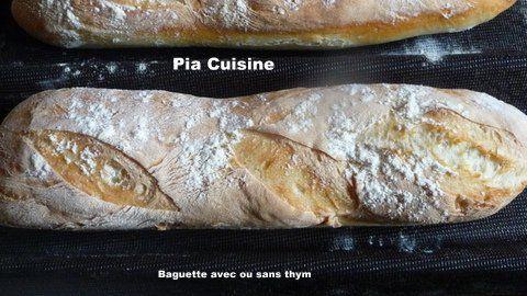 Baguette au thym ou sans .....
