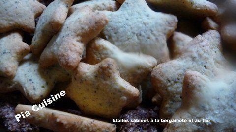 Etoiles sablées à la bergamote et au thé Lipton