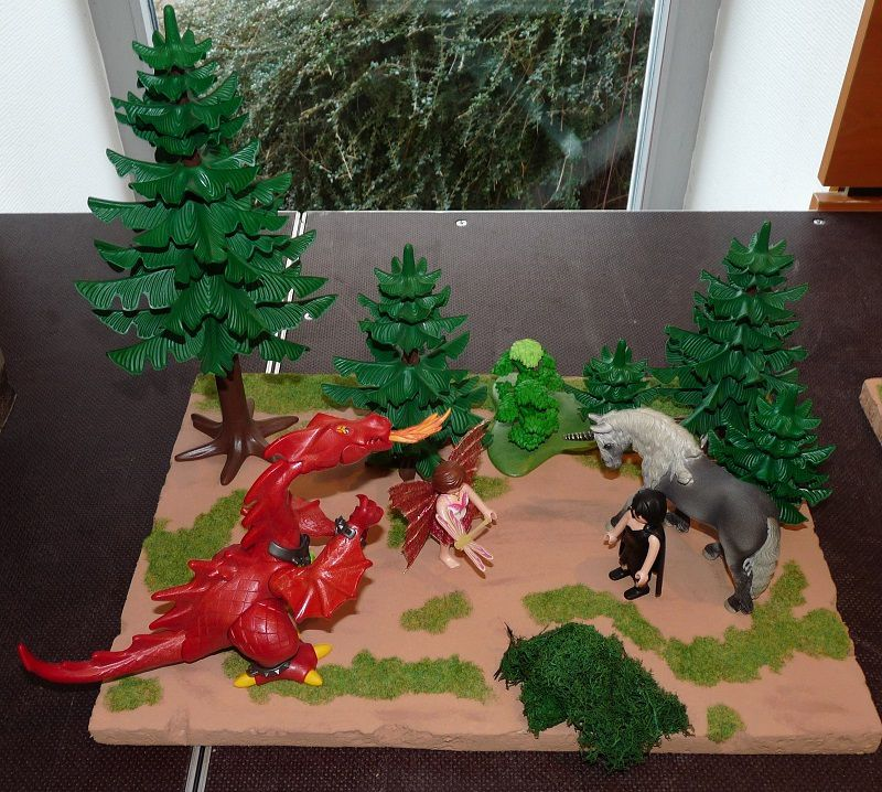Quelques dioramas A3 Playmobil