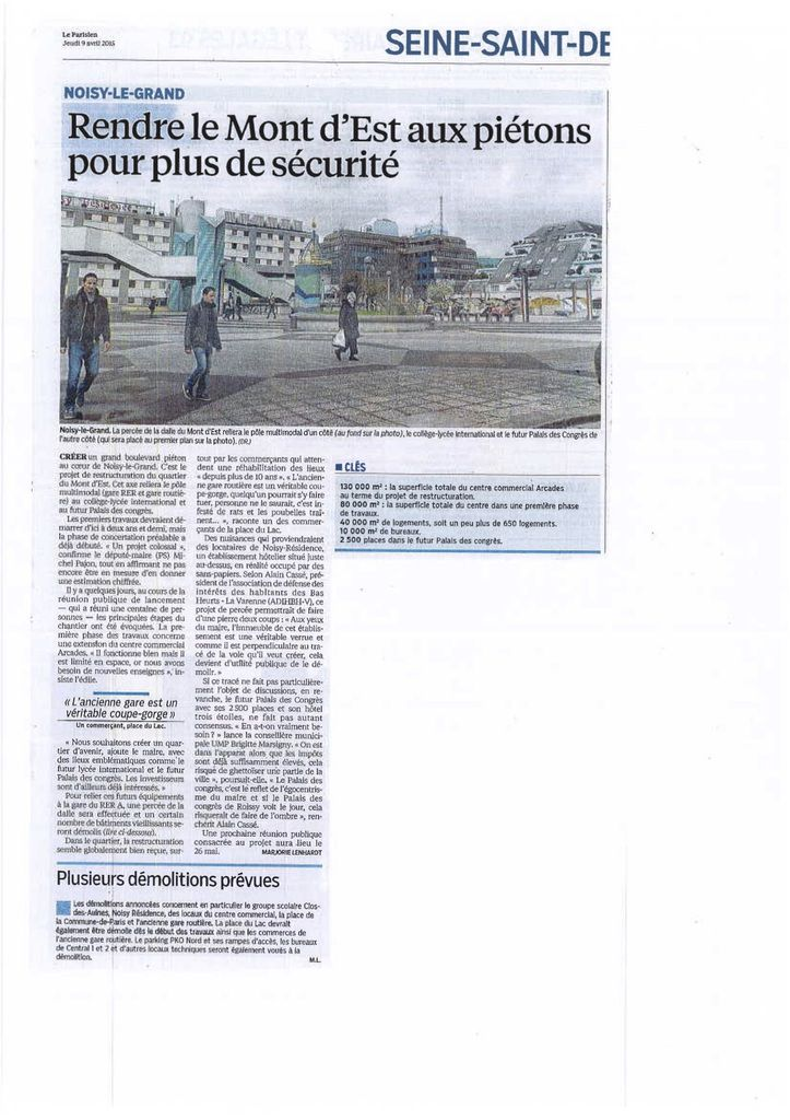 Article du Parisien du 09 avril 2015