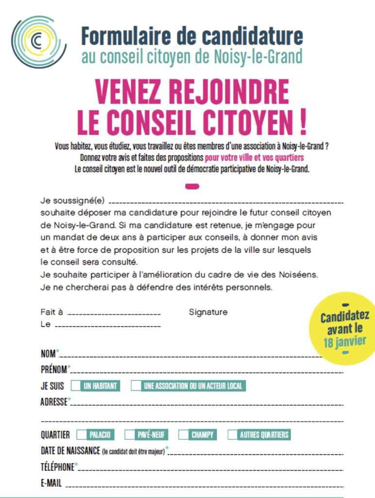UN CONSEIL CITOYEN À NOISY-LE-GRAND
