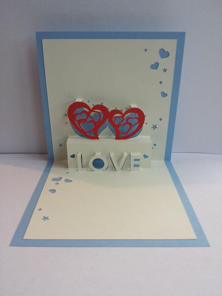 Invité à un mariage ou pour offrir à votre moitié voici une carte qui ira droit au coeur.