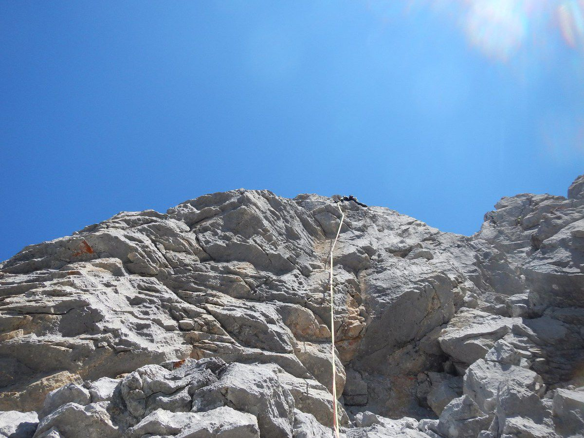 le final dans un rocher inoui