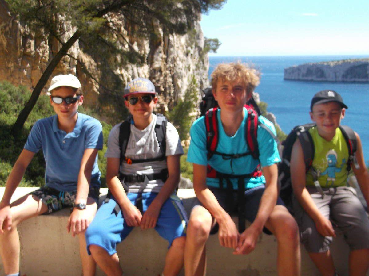 Léo-paul, Max, Corentin et Alois frère de Léo-Paul et qui sait un prochain aventurier !