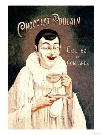 LES PUBLICITES ANCIENNES SUR LE CHOCOLAT...