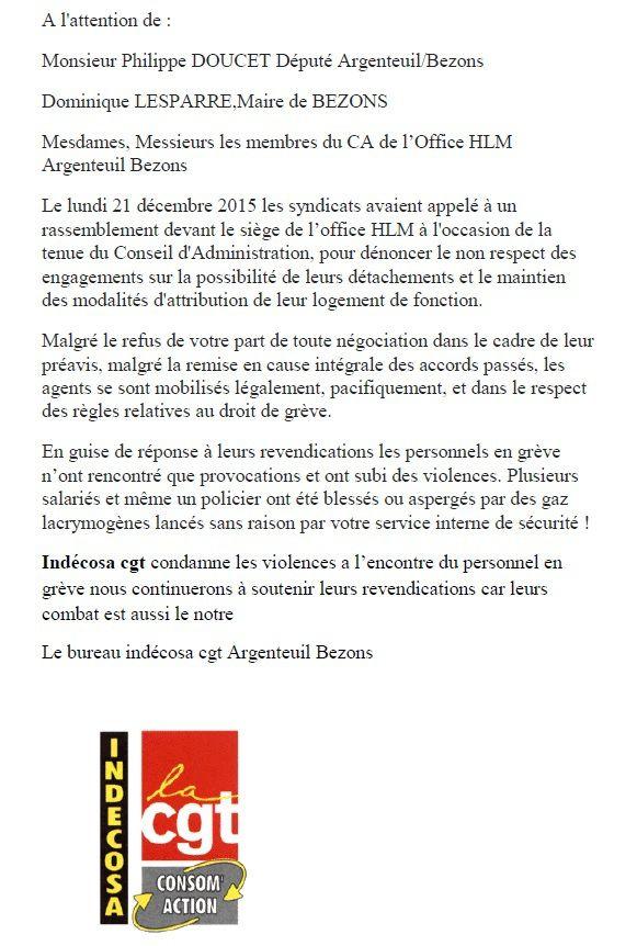 Indecosa dénonce les violences contre les personnels d'AB-Habitat
