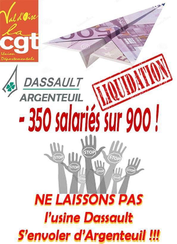 16 Mars : Solidarité avec les salariés de Dassault pour la défense de l'emploi industriel à Argenteuil