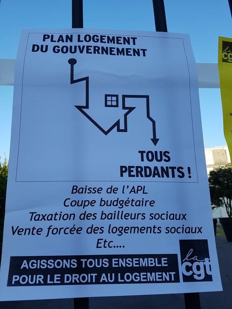 Argenteuil : Rassemblement contre la baisse de l'APL et la casse du logement social