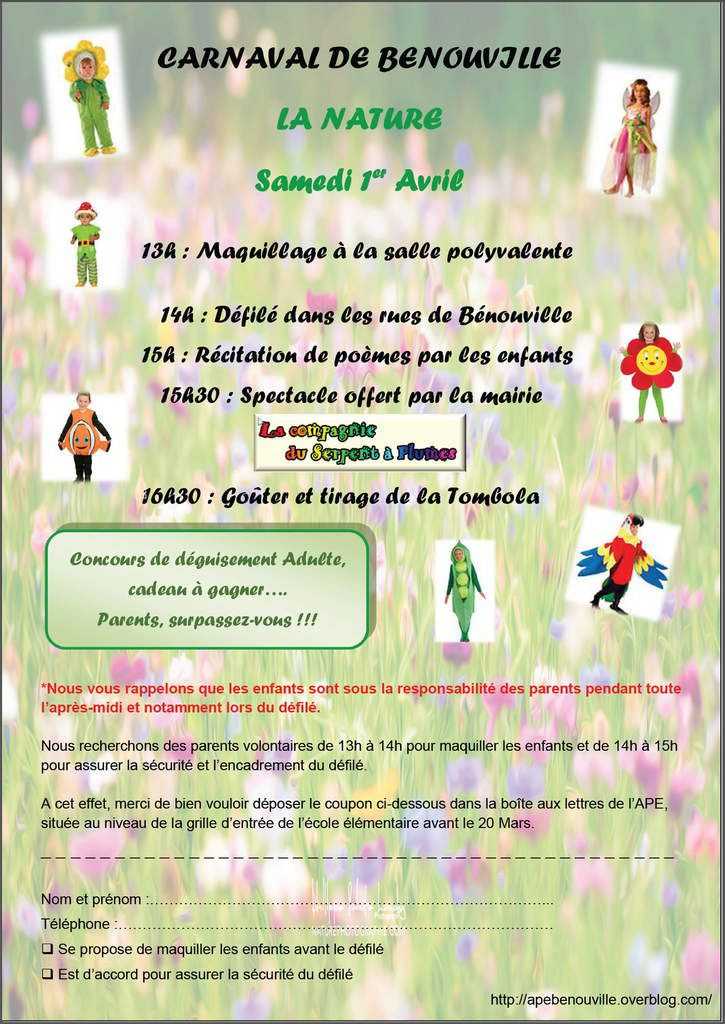 Carnaval - Dimanche 1er Avril 2017 - La NATURE