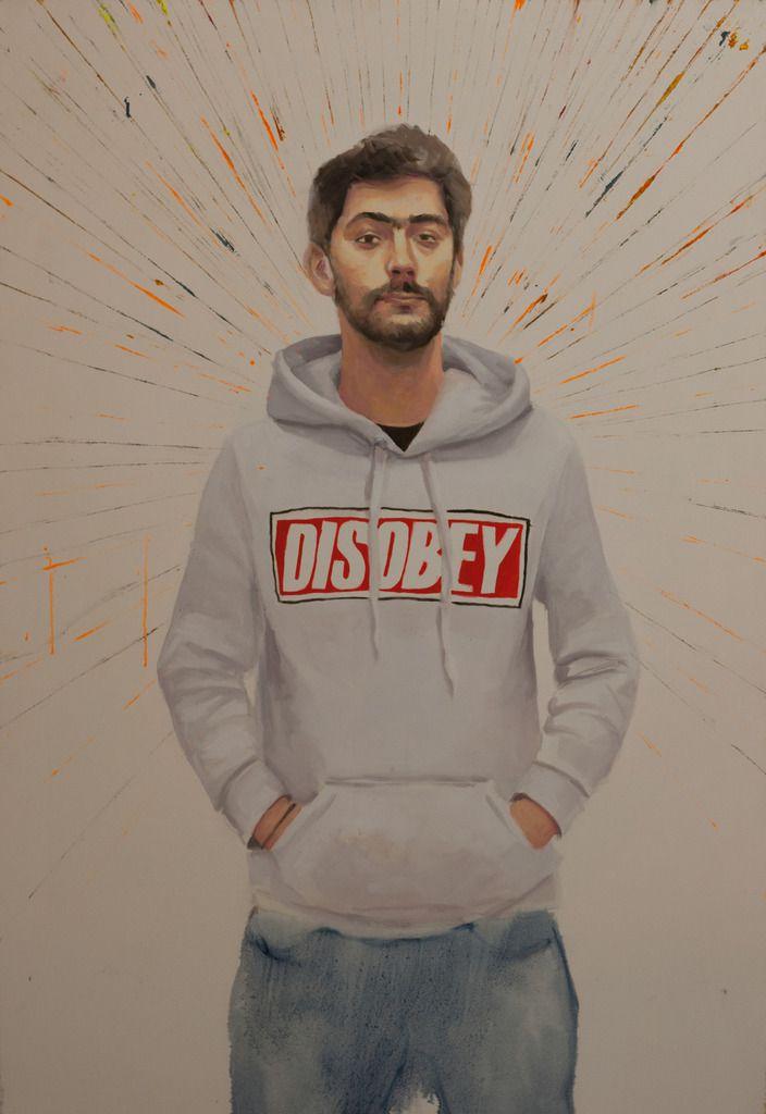 Daniel, huile sur toile, 130x89cm, 2016