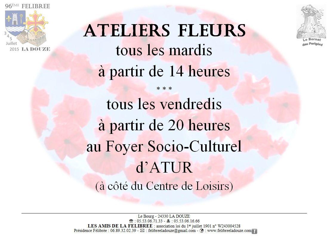 Les Ateliers Fleurs de la Semaine