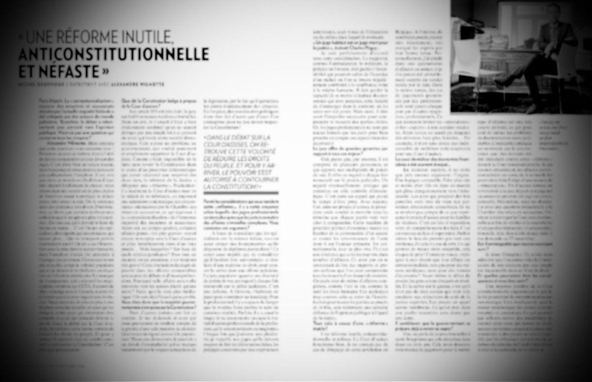 Alexandre Wilmotte veut sauver le jury populaire