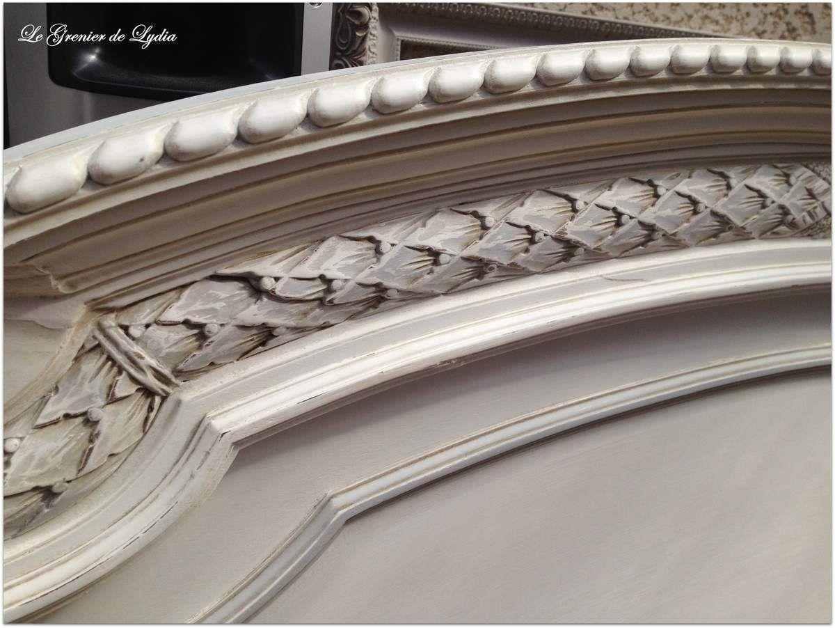 Relooking d 39 une t te de lit louis xvi relooking de meubles meubles patin s d coration for Peinture patinee