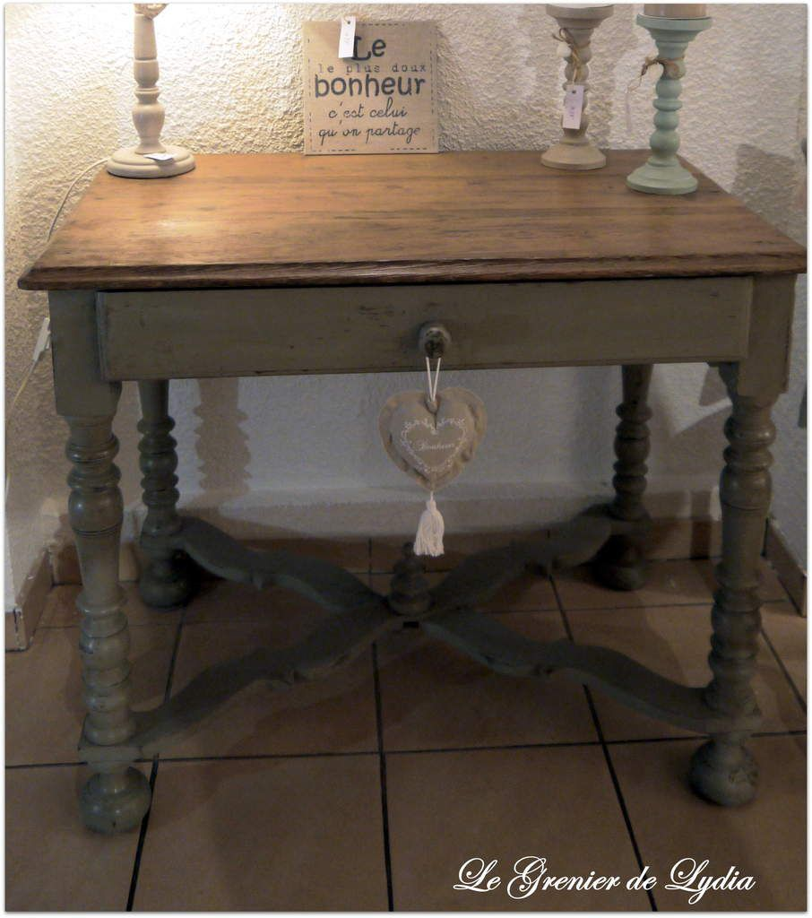 Console patin e esprit campagne chic relooking de for Meubles campagne chic