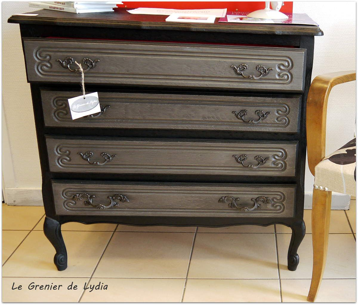 commode ch ne patin e style baroque relooking de meubles. Black Bedroom Furniture Sets. Home Design Ideas