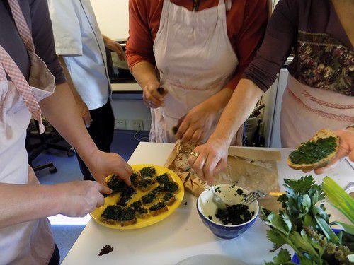 fromage avec fleurs de Mauve et d'Onagre