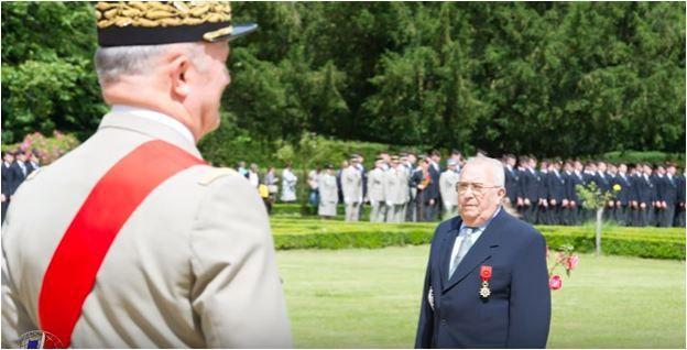 Lucien MARTIN, le sous officier le plus décoré, a été fait Grand Officier de la Légion d'honneur