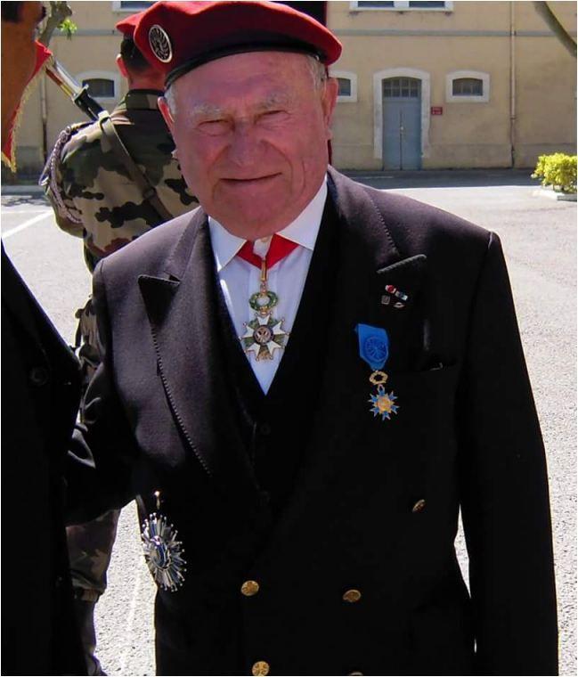 Le colonel (er) Robert SEJALON, une figure du 1er RCP, est décédé