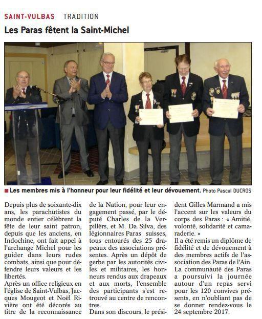 La section dans la presse: Saint Michel 2016 article journal le Progrès du 15 octobre 2016