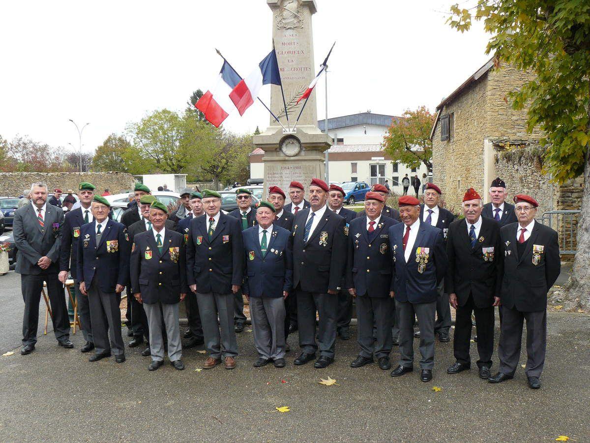 4 novembre 2017 La Balme Les Grottes, cérémonie annuelle en mémoire des morts de la Légion Etrangère et des soldats Morts pour la France