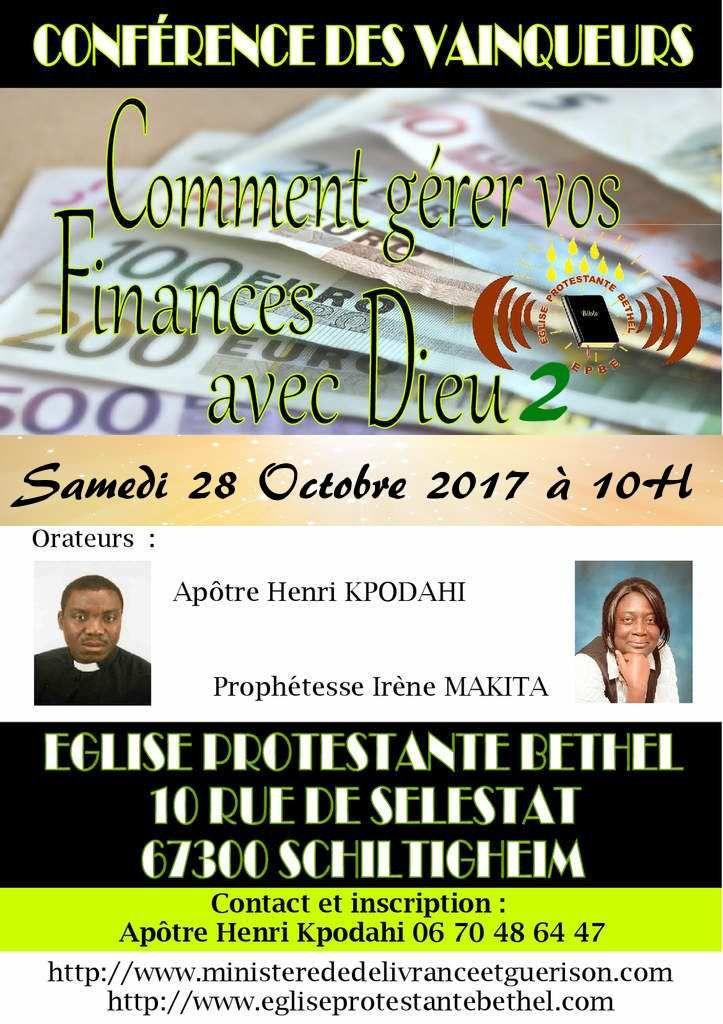 INVITATION A LA PROCHAINE CONFERENCE DES VAINQUEURS LE SAMEDI 28 OCTOBRE 2017