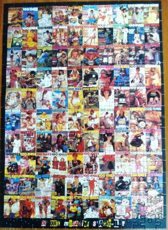 Puzzle fabriqué avec des couvertures de 100 idées