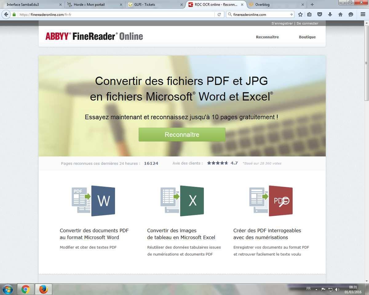 Convertif des images / pdf en documents bureautiques