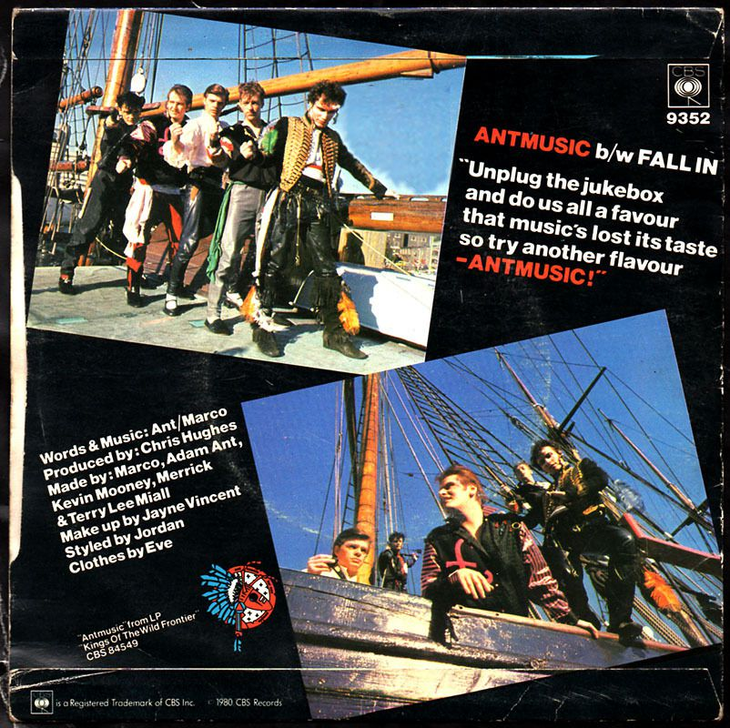 Adam &amp&#x3B; the Ants - 'Antmusic' b/w Fall-in - 1980