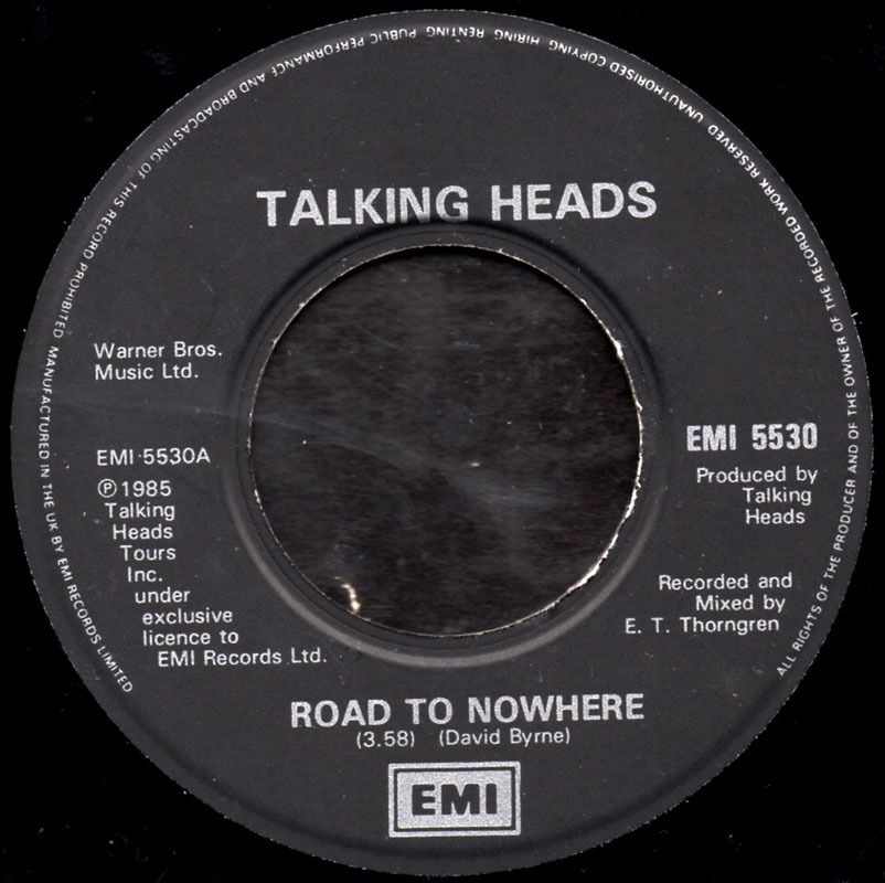 Talking Heads - road to nowhere - 1985