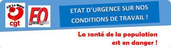 Manifestation, mardi 7 mars à 14H15, du Centre Hospitalier du Mans (bâtiment Fontenoy) à la Préfecture du Mans