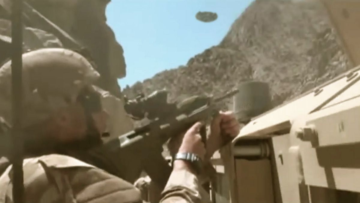 UFO ATTACK filmed by Australian soldiers in Afghanistan Oct 2013 !!! MUST SEE !