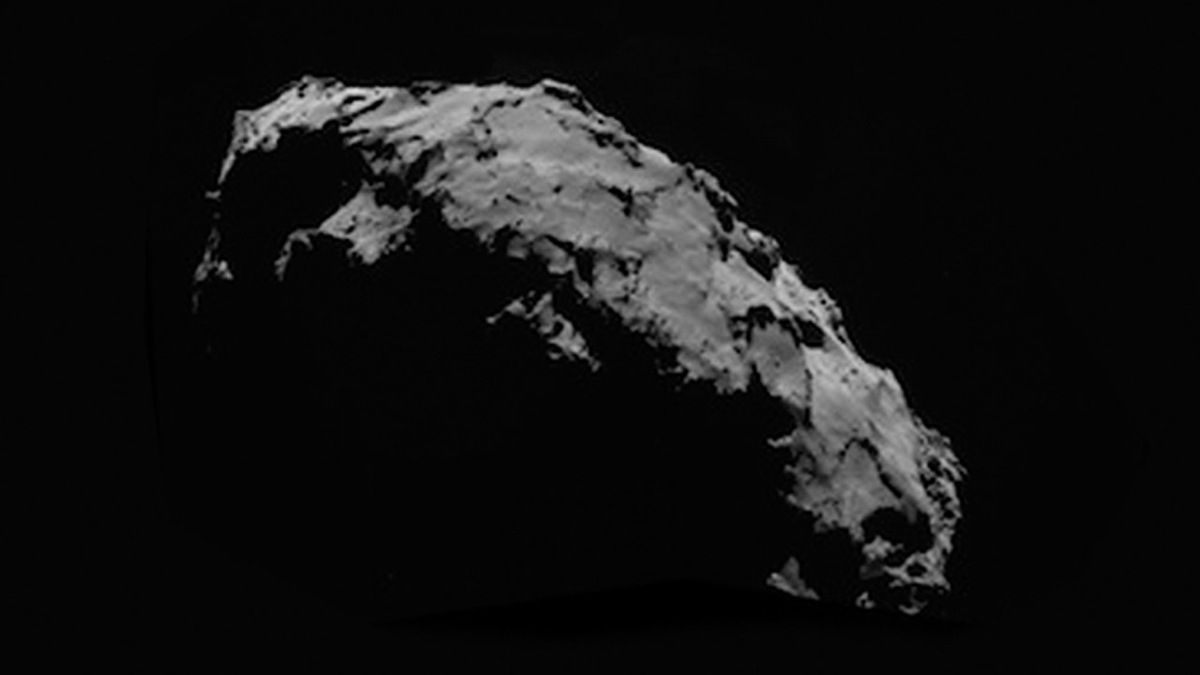 UFO photographed on COMET 67P CHURYUMOV by ROSETTA !!! Sept 2014