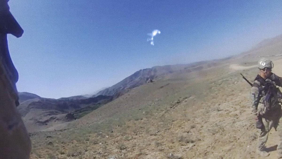 Strange UFO sighting reported by US Marines over mountains AFGHANISTAN !!! 2014